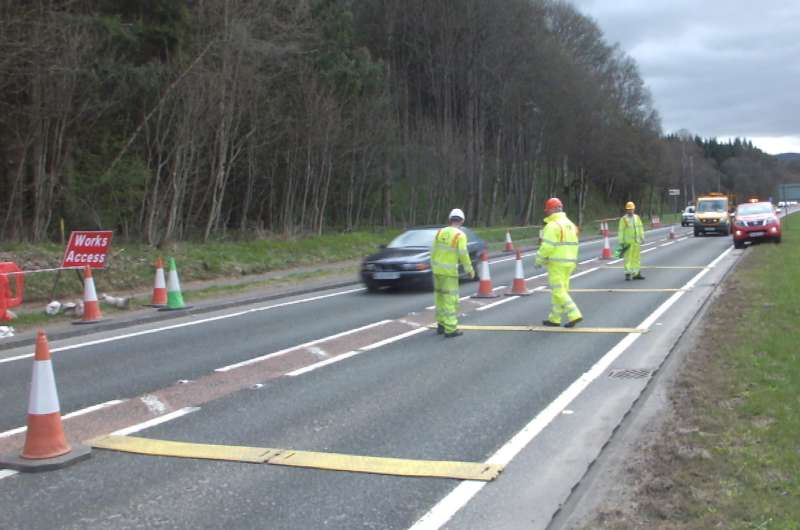 RoadQuake Rumble Strip A9 carriageway