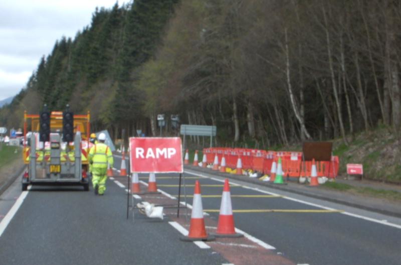 RoadQuake Rumble Strip in situ temporary works