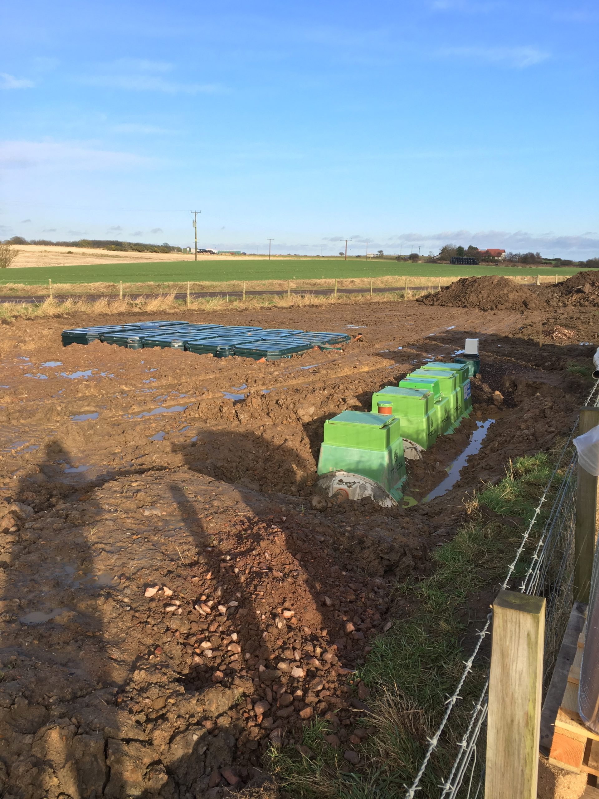 Commercial sewage treatment plant and packaged filter system installed in Scotland