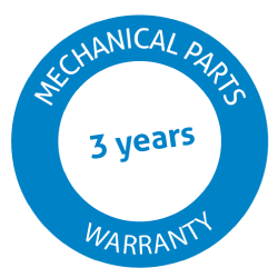 3 Years Warranty on mechanical parts