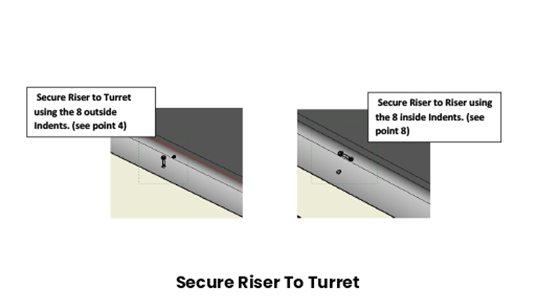 Secure Riser to Turret