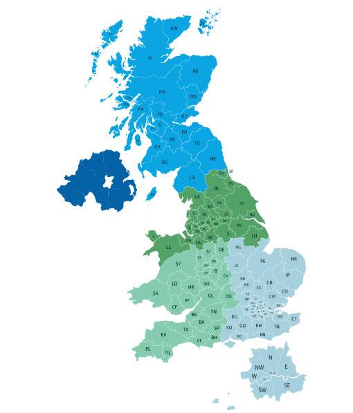 Tricel Environmental UK Map