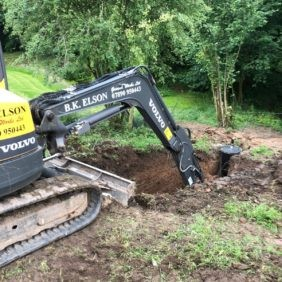 Decommissioning of the old septic tank